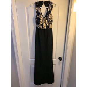 Black and gold sequin dress!